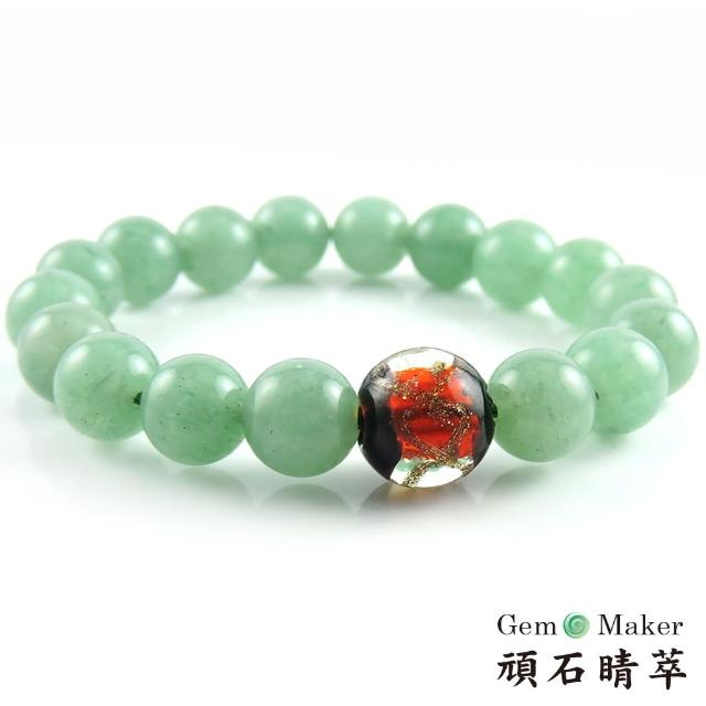 【GemMaker 頑石睛萃】綠東菱琉璃手珠(25g)