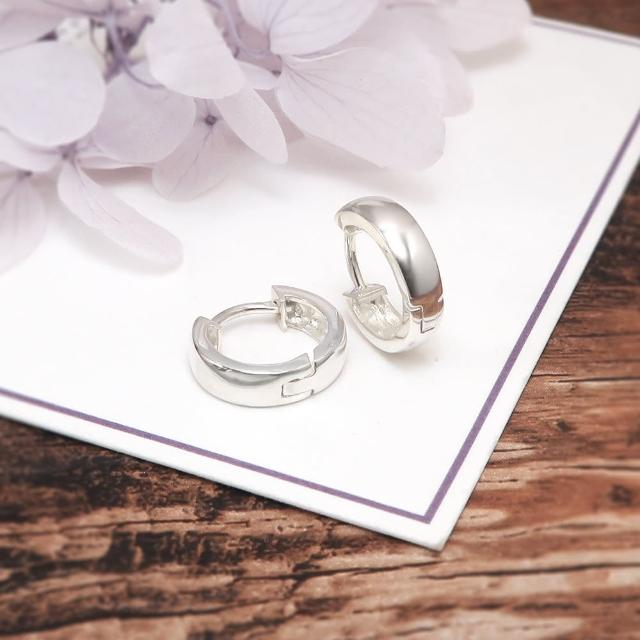【ART64】易扣 圈式耳環 圓形倒勾 13mm 易扣式 純銀耳環