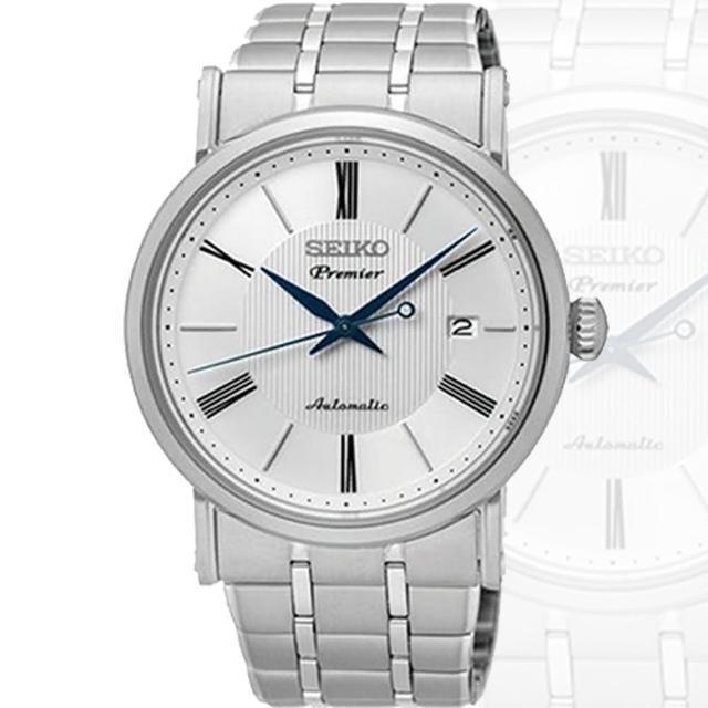【SEIKO 精工】Premier 系列 羅馬數字超薄機械錶(40mm/4R35-01C0S)
