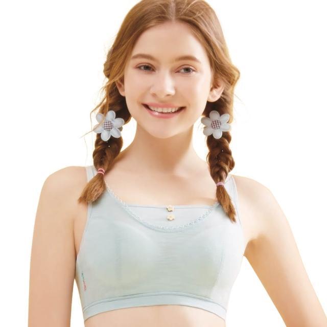 【思薇爾】竹蜻蜓輕甜風系列B-E罩軟鋼圈背心式素面包覆內衣(羽絨藍)