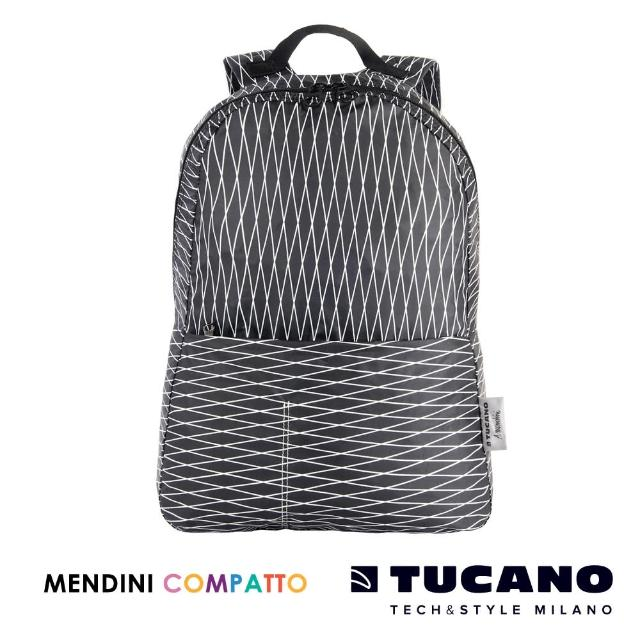 【TUCANO X MENDINI】設計師系列超輕量折疊收納後背包(黑)