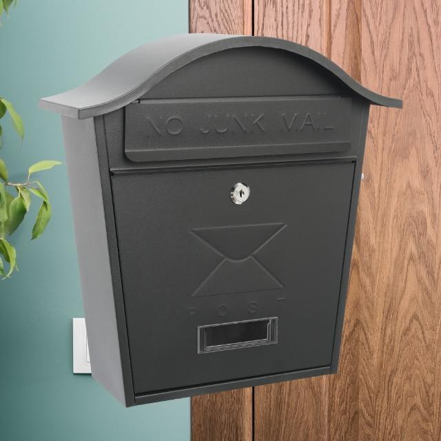 【TRENY】圓頂歐式信箱 - 黑