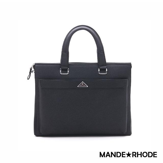 【MANDE RHODE】里米尼-質感紳士多隔層公事包(紳士黑)
