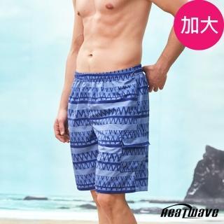 【Heatwave 熱浪】加大男海灘褲-海藍邊(A253)