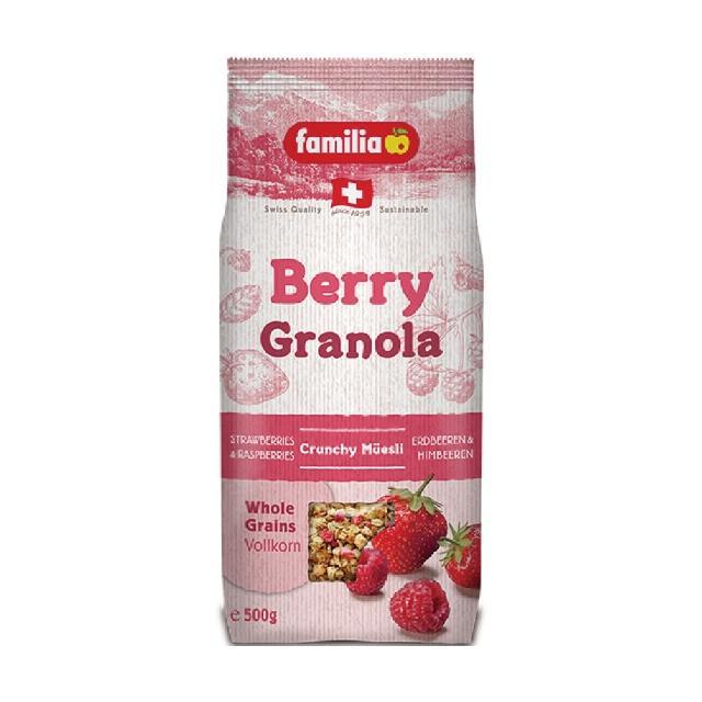 【Familia】瑞士全家草莓綜合穀物早餐 500g(來自瑞士的天然穀物)