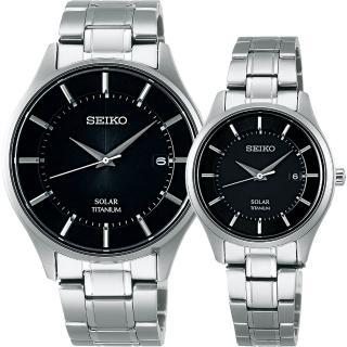 【SEIKO】精工 SPIRIT 鈦金屬對錶(SBPX103J+STPX043J)