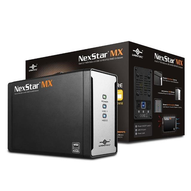 【凡達克】傳輸精靈 MX 2.5吋 雙槽 SATA 6Gb/s 轉 USB 3.0 外接盒(NST-225MX-S3)
