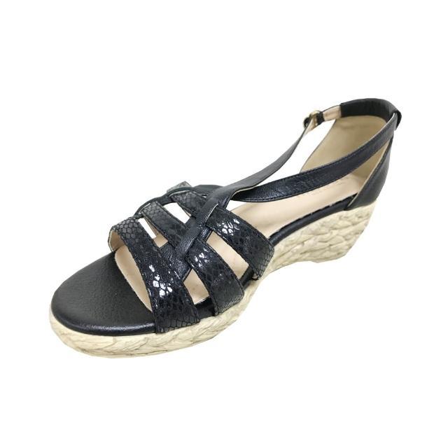 messe 小羊皮编织罗马楔型凉鞋(30)