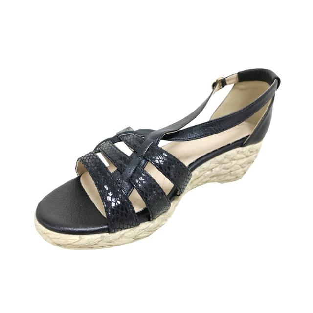 messe 小羊皮編織羅馬楔型涼鞋(35)