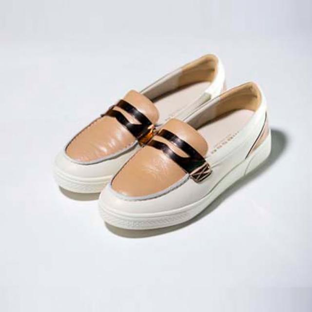 韩国messe 手工小羊皮增高休闲鞋