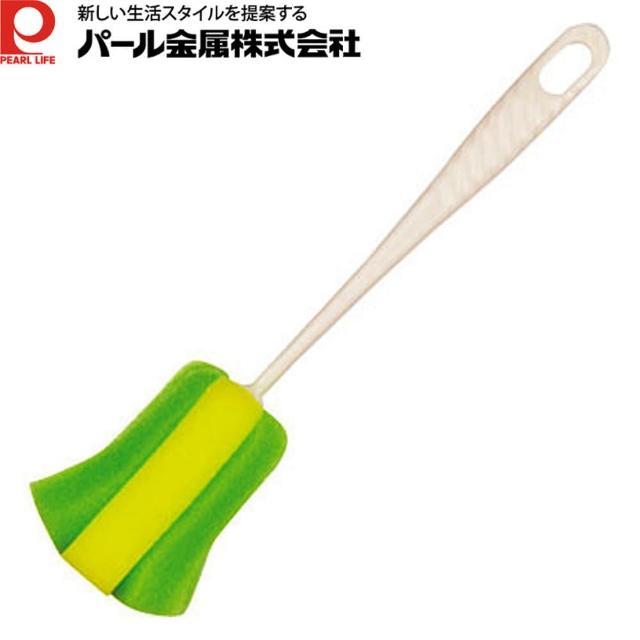 【日本PEARL】廣口保溫瓶清潔刷(綠色)