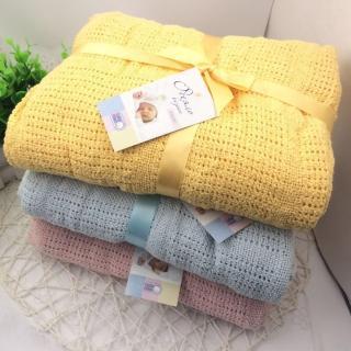 【JoyNa】洞洞毯包巾 嬰兒被針織透氣蓋毯90*120CM