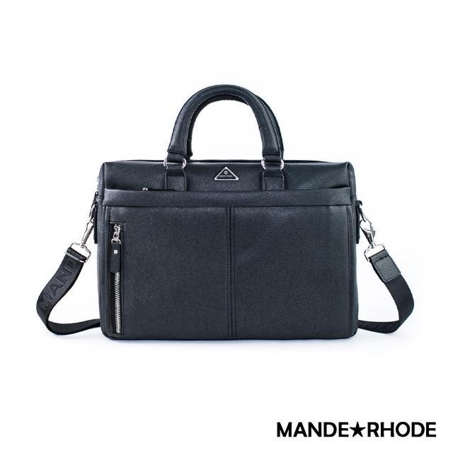 【MANDE RHODE】里米尼-時尚造型兩用公事包(紳士黑)