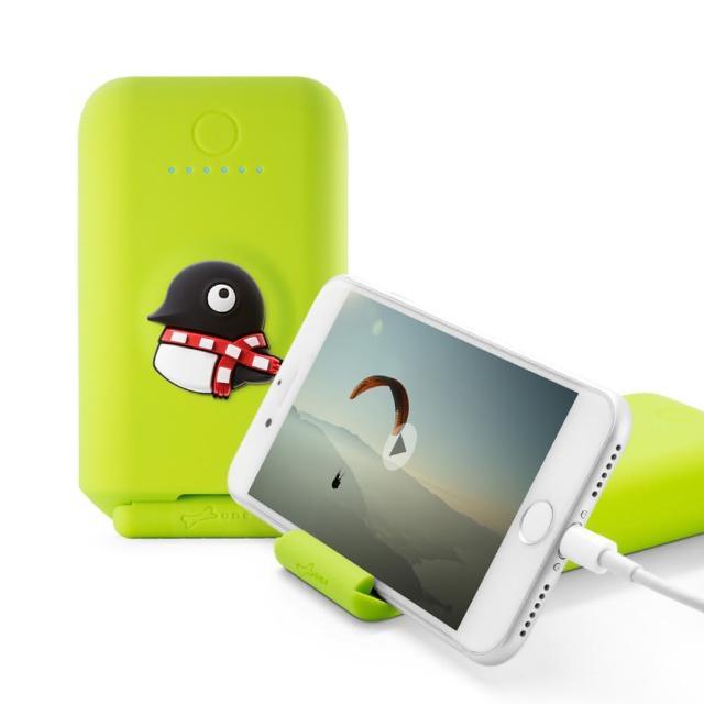 【Bone】聰明立架 3.1A 逗扣行動電源 10050mAh - 企鵝Maru(Bone原創角色 支援快充 無毒矽膠認證)