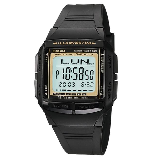 【CASIO】酷炫城市經典電子錶-金(DB-36-9A)