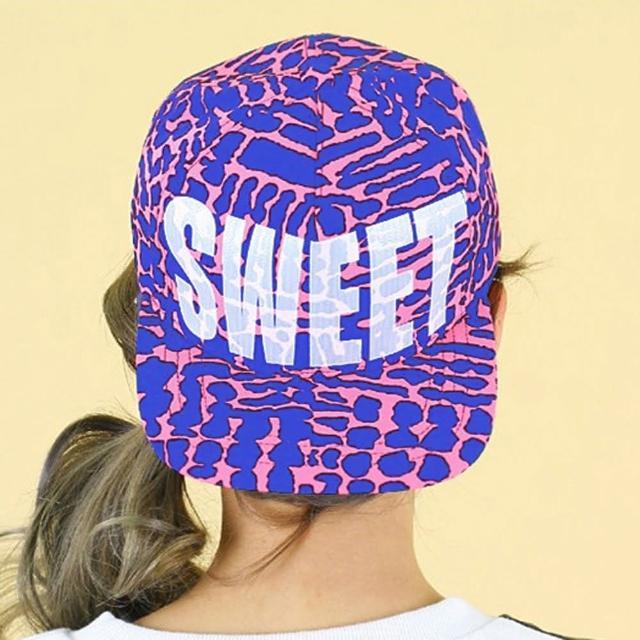 【Lady c.c.】都都市流行時代搶眼棒球帽(桃底藍斑)