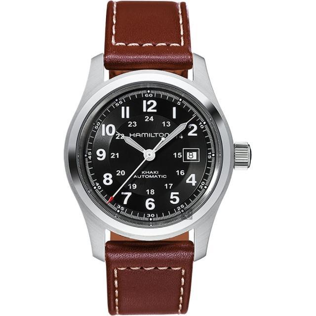 【Hamilton】漢米爾頓 KHAKI 卡其野戰機械錶-黑x咖啡/42mm(H70555533)