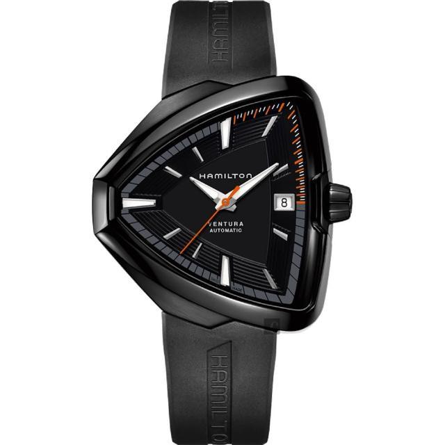 【Hamilton】漢米爾頓 VENTURA Elvis80 貓王80週年機械錶-黑/42mm(H24585331)