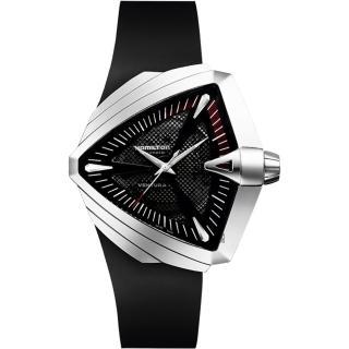 【Hamilton】漢米爾頓 VENTURA XXL 貓王音箱鏤空機械錶-黑/46mm(H24655331)