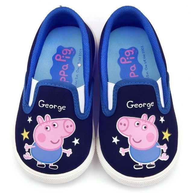 【童鞋城堡】粉紅豬小妹 喬治 中童 星星休閒鞋(PG8512-藍)