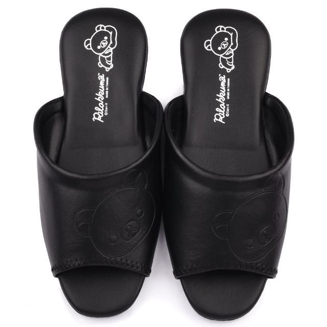 【童鞋城堡】拉拉熊 成人款 室內拖鞋(KM26133-黑)