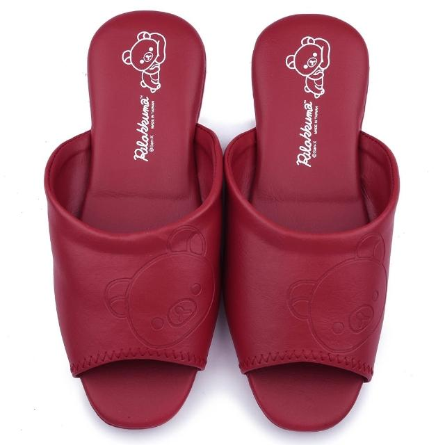 【童鞋城堡】拉拉熊 成人款 室內拖鞋(KM26133-紅)