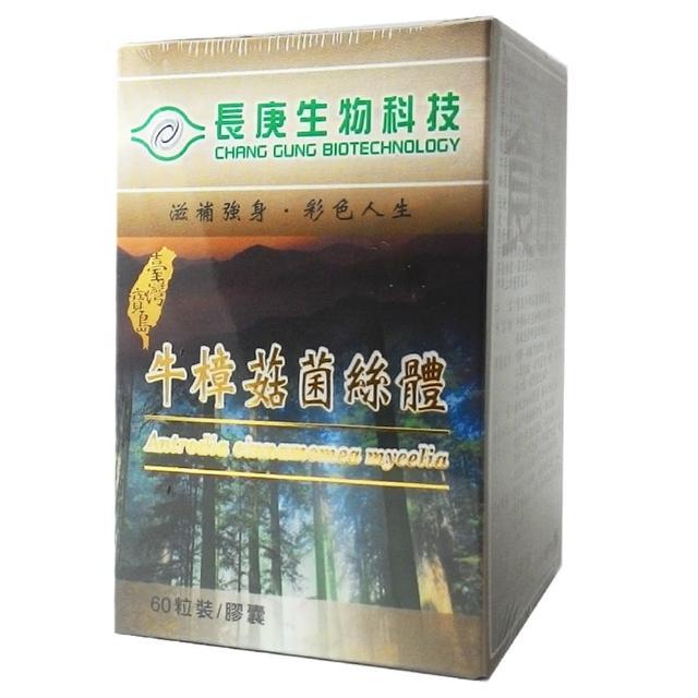 【長庚生技】牛樟菇菌絲體膠囊(60粒/瓶)