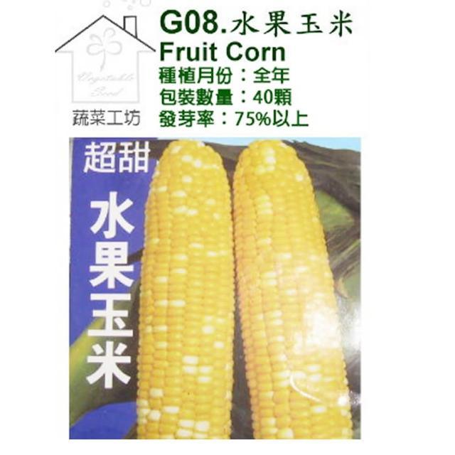 【蔬菜工坊】G08.水果玉米 種子(黃白穗雙色玉米)
