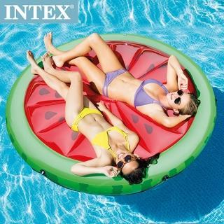 【INTEX】西瓜戲水浮排183*23cm 適用:成人(56283)