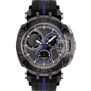 【TISSOT】天梭 T-RACE MOTOGP 2017限量版賽車錶-黑x藍/45mm(T0924173706100)