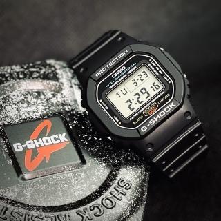 【CASIO】卡西歐G-SHOCK多時區鬧鈴電子錶-黑(DW-5600E-1)