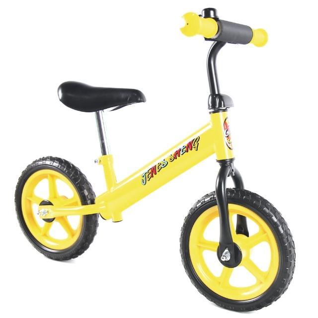 【JS】12吋兒童平衡滑步車(黃閃電)