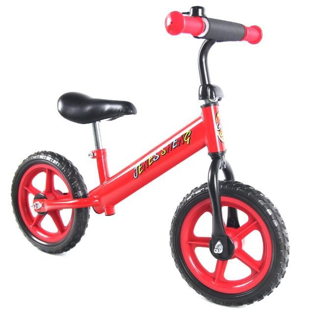 【JS】12吋兒童平衡滑步車(酷炫紅)
