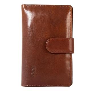 【Sika】義大利時尚真皮壓扣中夾(A8207-02深咖啡)