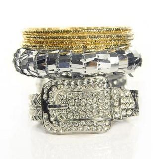 【Lady c.c.】華麗錶帶古董多層次手環(銀)