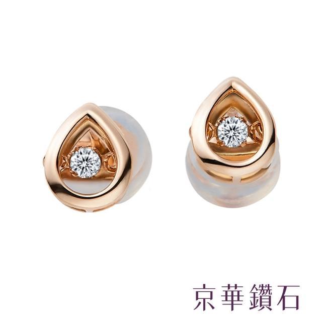 【京華鑽石】18K玫瑰金 Dancing Diamond 跳舞鑽石耳環