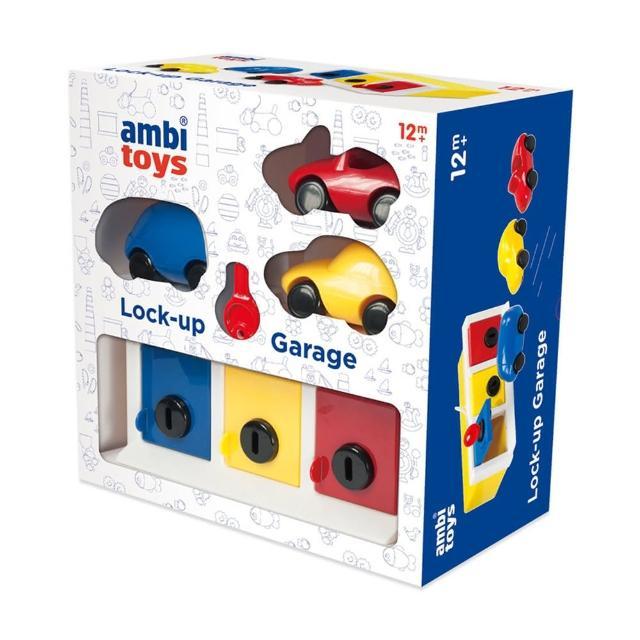 【英國 ambi toys】鎖車酷配對盒(訓練寶寶的顏色認知與手眼協調)