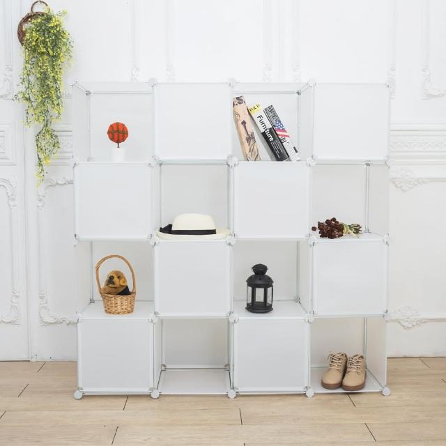 【ikloo】16格16門收納櫃-12吋收納櫃/整理收納組合櫃