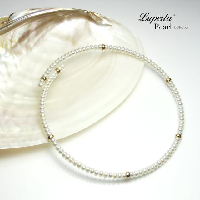 【大東山珠寶】浪漫貴族頸圈項鍊 歐美古典編織珠寶(天然珍珠14K金)