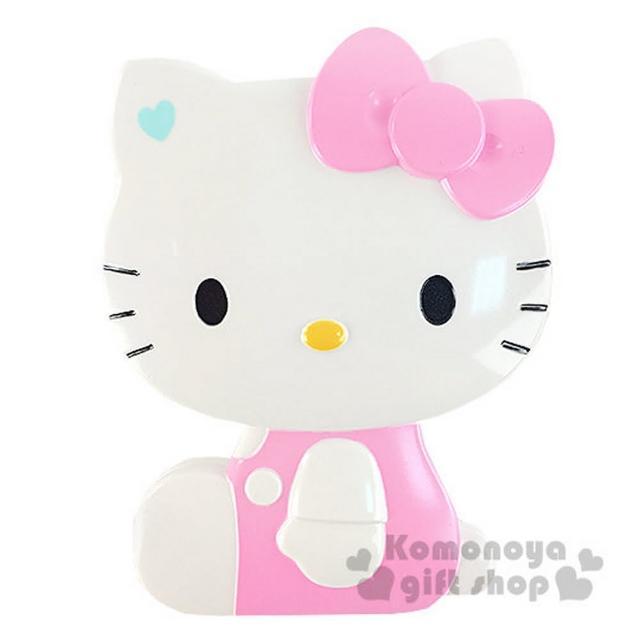 【小禮堂】Hello Kitty 造型折疊梳《粉.側坐.盒裝》附鏡子