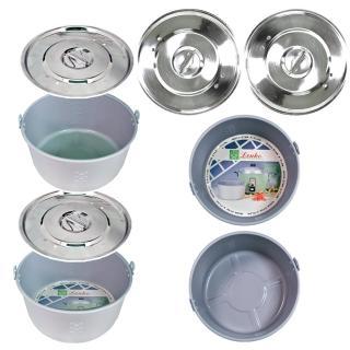 【天蠶】A-FLON 10人份內鍋 2鍋2蓋套裝組(雙A-FLON內鍋雙不鏽鋼鍋蓋)