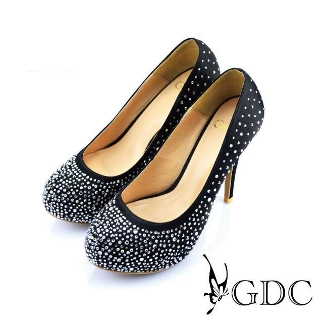 【GDC】幸福婚鞋-璀璨亮麗水鑽高跟鞋-黑色(227292)/