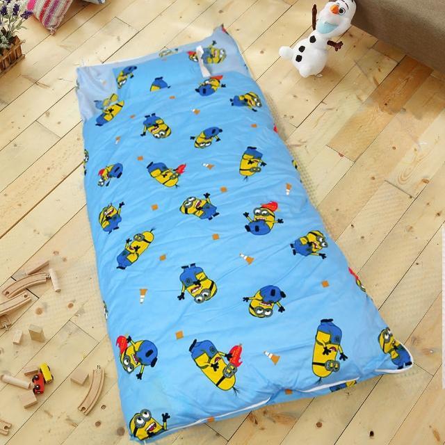 【HO KANG】正版授權 雪紡棉冬夏鋪棉兩用兒童睡袋(小小兵 歡呼)