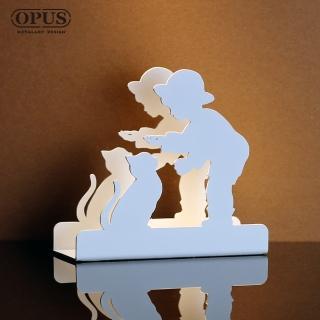 【OPUS東齊金工】歐式鐵藝信件架/收納架/展示架/桌面收納(LE-bo16W 童伴_優雅白)