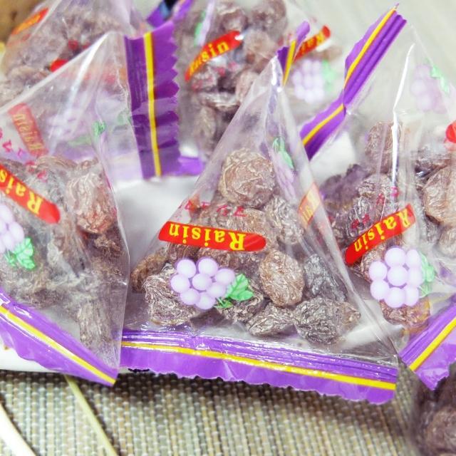 【惠香】小葡萄三角包250g(梅子葡萄乾梅粉甘梅天然果乾粽子包裝)
