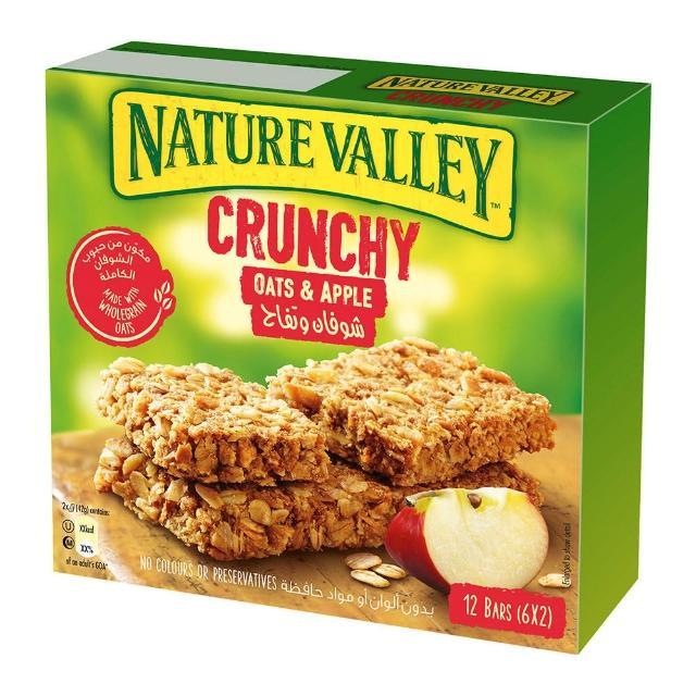 【NATURE VALLEY】天然谷 纖穀派 蘋果燕麥(42gx6條/盒)