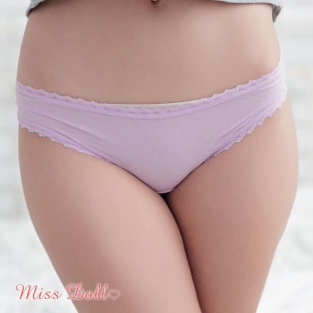 【蜜絲朵】魅惑吸晴 細緻棉柔花邊三角內褲F015(紫)