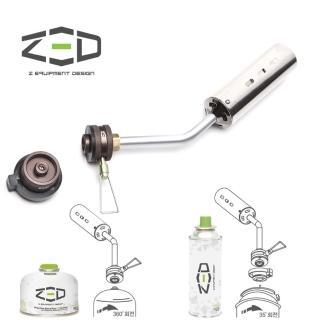 【ZED】兩用瓦斯噴槍 ZAATO0101(噴槍、登山卡式兩用、附轉接頭、烤肉用)