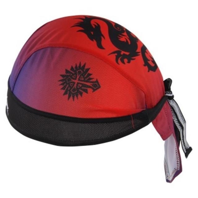 【米蘭精品】海盜帽頭巾運動防曬(經典喜氣龍紋設計路跑登山自行車綁帽頭巾73fo6)
