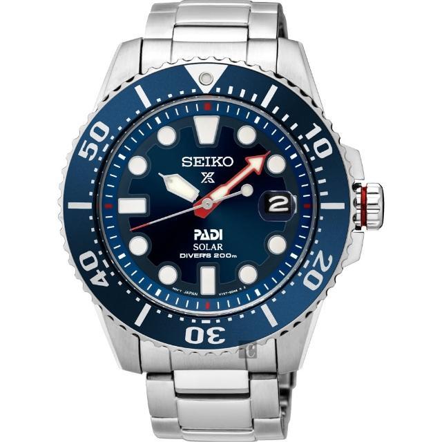 【SEIKO】Prospex PADI 太陽能潛水200米聯名限量腕錶-藍水鬼(V157-0BT0B SNE435J)